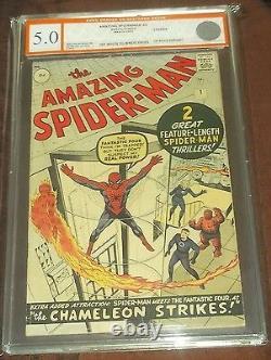 Amazing Spiderman #1 Egc Not Cgc (5.0) Off/w-white Pgs Uk 1963 Euro Grader (sa)