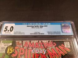 Amazing Spiderman 101 1st Morbius CGC 5.0 Off-White Pages Marvel Comics