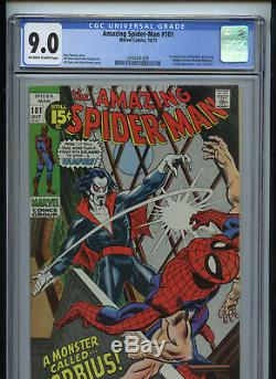 Amazing Spiderman #101 CGC 9.0 Off White to White 1st Morbius