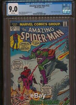 Amazing Spiderman #122 Death Green Goblin CGC 9.0 VF/NM White Pages John Romita