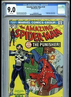 Amazing Spiderman #129 CGC 9.0 White Pages 1st Punisher
