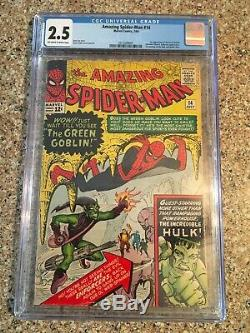 Amazing Spiderman 14 CGC 2.5 OWithWhite Pages! First Green Goblin! Outstanding