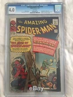 Amazing Spiderman 18 CGC 4.0 First Ned Leeds Hobgoblin WHITE pages