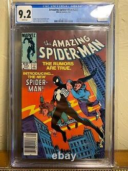 Amazing Spiderman 252 CGC 9.2 1ST Black Suit NEWSSTAND WHITE PAGES NM