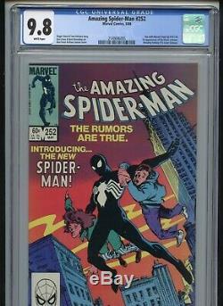 Amazing Spiderman #252 CGC 9.8 White Pages 1st Black Costume