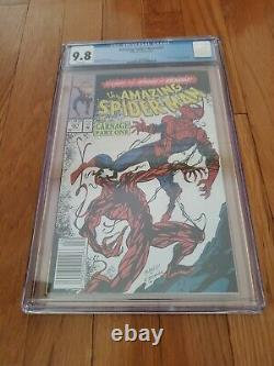 Amazing Spiderman #361 Cgc 9.8 1st Carnage Rare Newsstand White Pages