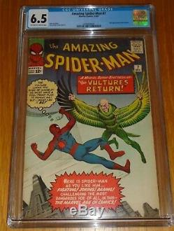 Amazing Spiderman #7 Cgc 6.5 Marvel December 1963 Off White To White Pages (sa)