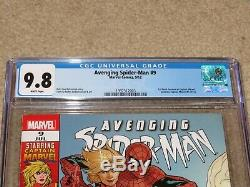Avenging Spider-Man #9 1st Carol Danvers CGC 9.8 NM/MT Marvel 2012 White Pages