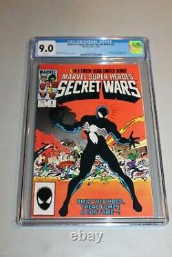 CGC 9.0 White Pages Marvel Secret Wars 8 1st App Black Costume Spider-man Venom