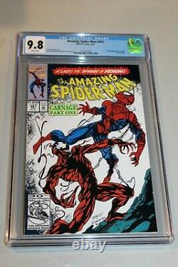 CGC 9.8 White Pages Amazing Spider-Man #361 4/92 1st Print 1st App Carnage NICE