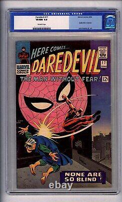 Cgc (marvel) Daredevil 17 Vf/nm 9.0 Old Label1966 Off White Spider-man