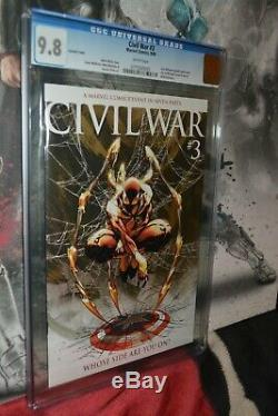 Civil War #3 CGC 9.8 2006 Spider-Man Variant Cover White Pages