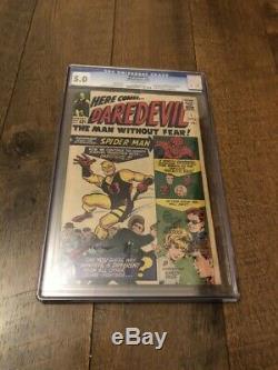 Daredevil #1 CGC 5.0 1964 Movie! Spider-Man cover! Silver Age Key! Off White