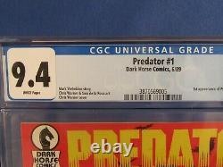 Dark Horse Comics Cgc 9.4 Predator 1 6/89 White Pages