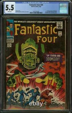 Fantastic Four #49 CGC 5.5 WHITE Pages Silver Surfer 1st Full Galactus