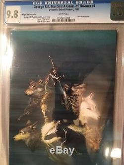 George R R Martin Game Of Thrones #1 Virgin Variant CGC 9.8 White Pages