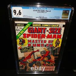 Giant-Size Spider-Man #2 Shang-Chi Master of Kung Fu CGC 9.6 White Pages 1974