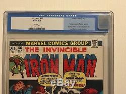 IRON MAN #55 VF+ CGC 8.5 White Pages First Thanos Draxx