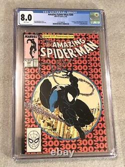 MARVEL AMAZING SPIDER-MAN #300 CGC 8.0 VF WHITE PAGES 1st Venom! 1988 5/88