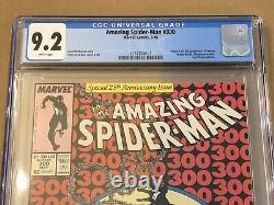 MARVEL AMAZING SPIDER-MAN #300 CGC 9.2 NM-WHITE PAGES 1st App Venom 1988 5/88
