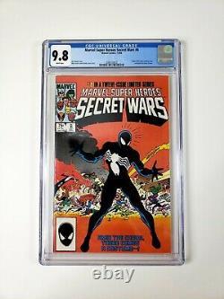 MARVEL Super Heroes SECRET WARS #8 CGC 9.8 White Pages SYMBIOTE SPIDER-MAN