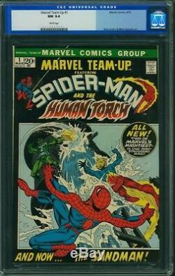 MARVEL TEAM-UP #1 CGC 9.4 Marvel 1972 Misty Night 1st appearance White Pages