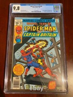 MARVEL TEAM UP #65 CGC 9.8 NM/MT Spider-Man 1st US CAPTAIN BRITAIN WHITE PAGES