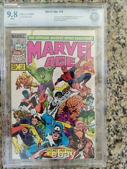 Marvel Age 12 CBCS 9.8 White Page not CGC 1st Spiderman Black Costume