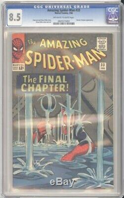 Marvel Comics AMAZING SPIDER-MAN #33 CGC 8.5 (1966) OW-White Pages