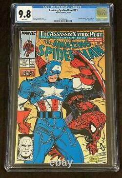 Marvel Comics Amazing Spider-man #323 Cgc 9.8 White Pages Mcfarlane Cover Art