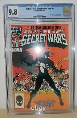 Marvel Secret Wars #8 CGC 9.8 White Pages Origin of Alien Symbiote