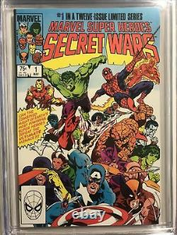Marvel Super Heroes Secret Wars #1 1984 Marvel CGC 9.8 Nice NM/M White Pages