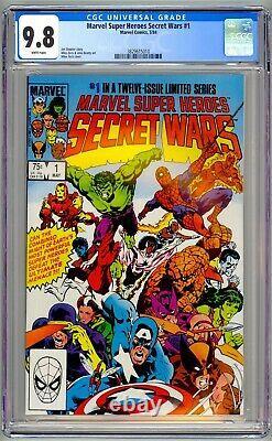 Marvel Super Heroes Secret Wars #1 CGC 9.8 NM/MT White Pages