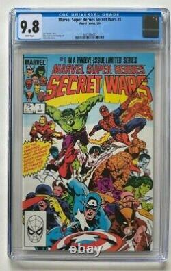 Marvel Super-Heroes Secret Wars #1 CGC 9.8 White Pages X-Men Spider-Man Comics