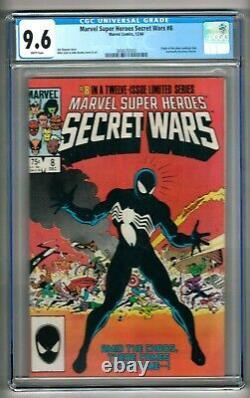 Marvel Super Heroes Secret Wars #8 (1984) CGC 9.6 White Pages Zeck Venom