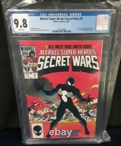 Marvel Super Heroes Secret Wars #8 1st Black Suit CGC Graded 9.8 White Pages