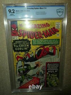 Marvel comics Amazing Spiderman 14 9.2 CBCS cgc White pages 1st app Green goblin