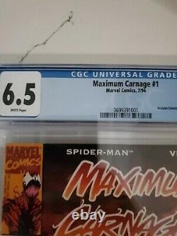 Maximum Carnage 1 Acclaim CGC 6.5 White Pages New CGC Slab