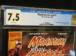 Maximum Carnage 1 Acclaim CGC 7.5 HOT! WHITE PAGES SUPER RARE CHECK OUT