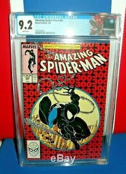 NEW LABEL! Amazing Spider-Man #300 CGC 9.2 White pages 1st Venom 1 Carnage af15