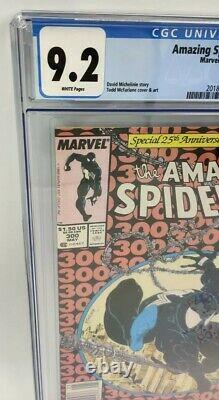 Newsstand 1st App Venom The Amazing Spider-Man 300 CGC 9.2 1988 NM White Case