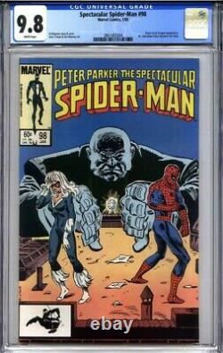 SPECTACULAR SPIDER-MAN #98 CGC 9.8 (1st appearance of The Spot) white pages