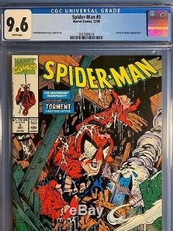 SPIDER-MAN #1 2 3 4 5 13 1990 CGC 9.6 NM+ 6 Issue Lot Todd McFARLANE White Pages