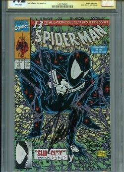 SPIDER-MAN 13 Signed by STAN LEE. CGC 9.2 (1991). White pgs. McFarlane cvr
