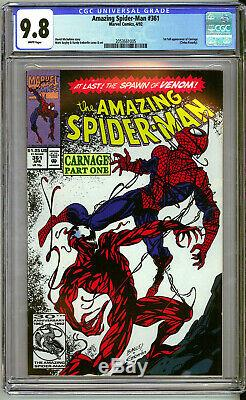 SPIDER-MAN #361 CGC Graded 9.8 NM/M 1st Appearance of CARNAGE White Pages VENOM