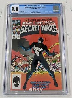 Secret Wars #8 Cgc 9.8 Origin Of Venom Symbiote Costume White Pages