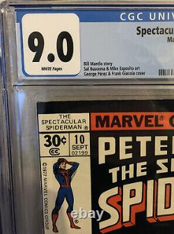 Spectacular Spider-Man #9 & #10 CGC both 9.0 1977 Marvel Comics 1st White Tiger