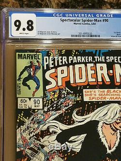 Spectacular Spider-Man #90 CGC 9.8 White Pages 1st Black Suit 1984