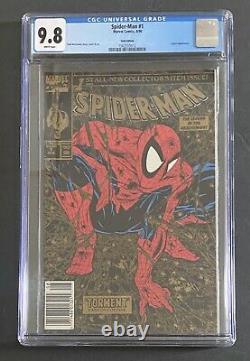 Spider-Man #1 CGC 9.8 Gold UPC NEWSSTAND Walmart Variant! WHITE PAGES! McFarlane