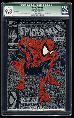 Spider-Man #1 CGC NM/M 9.8 White Pages Silver Signed by McFarlane